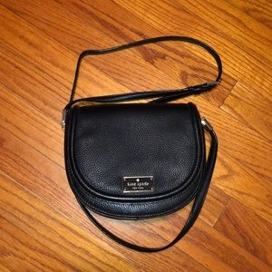 Black leather Kate Spade crossbody purse